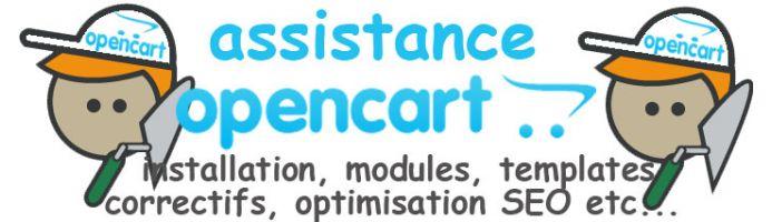Opencart Assistance Dépannage Support
